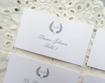 Wedding Name Cards |  Instant Download PDF - Printable Wedding Name Cards  |  Place Cards  | Escort Cards  |  CLASSIC Collection Style 02