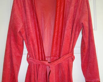Vintage Heiress Robe Mauve Pink Dusty Rose Medium Satin Trim Belt