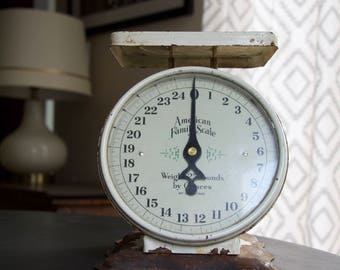 Vintage Scale || American Family Scale Company || Rustic Farmhouse Decor