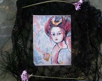 Rokurokubi Queen- 6x8in print