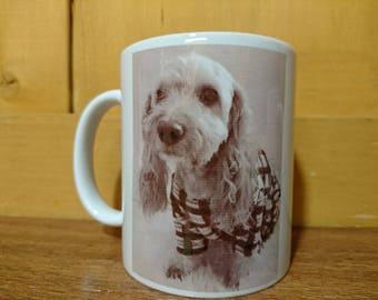 Custom Printed Pet Portrait On Coffee Mug