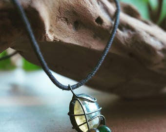 Bead and Gem Stone Necklace