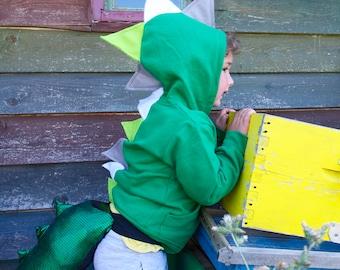 Baby Boy Dinosaur Hoodie,Dragon Hoodie,Dinosaur Sweater,Dinosaur Costume,Dinosaur Party,Toddler Dino Hoodie, Green Hoodie