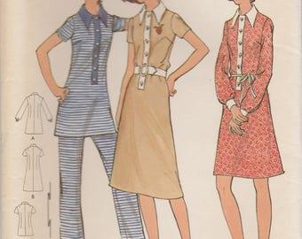 Vintage Tunic, Dress & Pants Pattern Butterick 6182 Size 12 Uncut