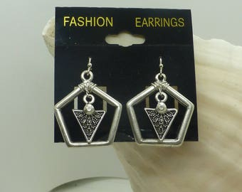 Pentagon Shaped Earrings.