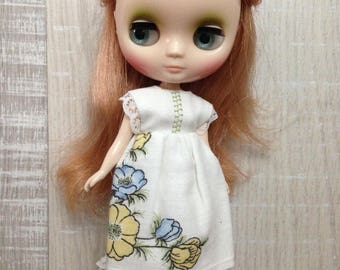 Dress for Middie Blythe - white dress with flowers and embroidery