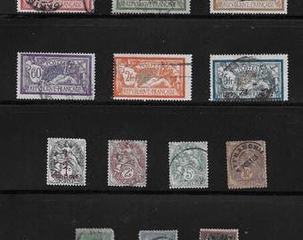French Antique and Vintage Stamps (1F) - early 1900s onward - Paris postmark