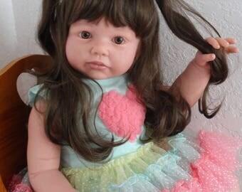 "Reborn 26"" Toddler Girl""Chanelle"" from Jannie DeLange sculpt- made to order"
