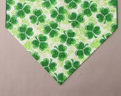 "Shamrock Table Runner, Small 36"" St. Pat's Table Runner, Irish Home Decor"
