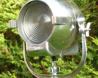 1950's British Strand Theatre Light Antique floor Spot Lamp Industrial Studio Lamp Art Deco Mid Century Film Cinema Lighting Hollywood Retro