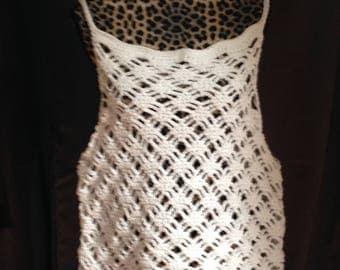 hand crocheted woman's tank top
