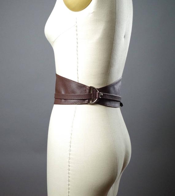 Vegan Leather Obi Belt - Brown Vegan Leather Obi Belt - Women's Wrap Belt - Brown Obi Belt - Boho Brown Belt