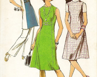Simplicity 9453 Misses Petite Dress, Jumper Or Tunic And Pants Pattern, Size 8mp, UNCUT