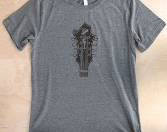Bill Monroe Mandolin Tshirt ( LIGHT GRAY )