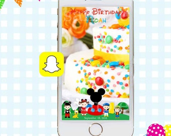 Mickey Mouse Clubhouse Snapchat GeoFilter, Birthday Snapchat Filters, Party Snapchat Filter, Mickey Mouse Snapchat GeoFilter, Birthday Party