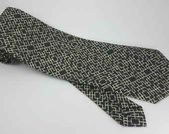 CLEARANCE! Labyrinth Print Necktie, Maze Necktie, Print Tie, Men's Tie, Novelty Tie, Men's Accessories