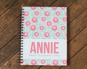 Baby Book - Personalized Baby Book - Modern Baby Book - Poppy - Coral