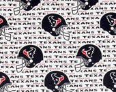 Houston Texans Football, NFL Fabric, Texas Football, Cotton Broadcloth Fabric, by the Half Yard or the FQ