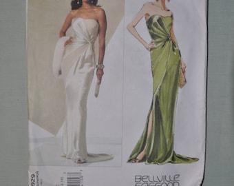 Elegant Evening Dress Pattern - by Bellville Sassoon - Sizes 10/12/14 - UNCUT - Vogue 2929