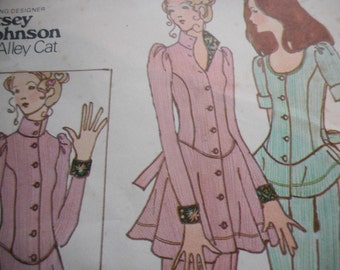Vintage 1970's Butterick 6529 Betsey Johnson Jacket and Pants Sewing Pattern Size 9 Bust 32