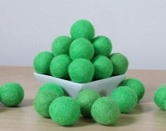 Felt Balls: SPRING GREEN, Felted Balls, DIY Garland Kit, Wool Felt Balls, Felt Pom Pom, Handmade Felt Balls, Green Felt Balls, Green Pom Pom