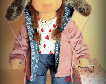 "Waldorf inspired 16"" doll Milly plus her wardrobe,cloth doll,soft doll,stuffed doll,Waldorf doll"