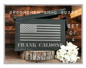 Set of 4 Ammunition Boxes/Ammunition Crate/Groomsman Gifts/Groomsman Gift Box/Ammo box for Groomsman/Best Man Gift Box/Custom Mens Gift