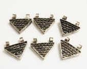 RESERVED FOR L Unique Triangle Telsum Beads from Ethiopia, African Pendants (X126)