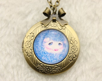 Necklace locket hedgehog 2020m