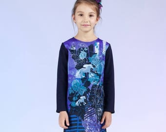 Wind Roses - children's sweatshirt dress
