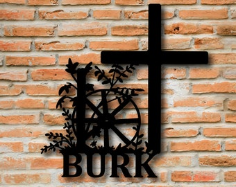 Metal Cross Wall Art, Religious Wall Art, Western Cross, Decorative Crosses, Faith Art, Custom Sign, Religious Gifts, Gifts for Pastors