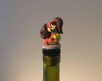 FIFi Wine Stopper, Disney Dog, Disney Wine Gift, Cartoon Wine stopper, Drinking Gift, Liquor Gift, Wine Lover, Gift Idea, Wine Tasting