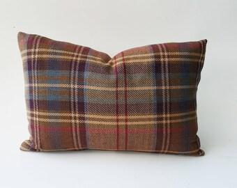 Ralph Lauren Brookhill Plaid Pillow Cover Birch