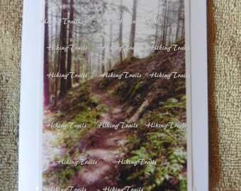 Photo Note Card, Eagles Rest Path, forest decor, woodland style, hiking trail art, forest wall art, Fine Art Photography by HikingTrails