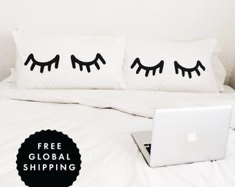 Eyelash Pillowcase Set of 2