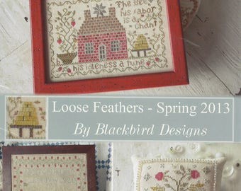 KIT - Agnes Platt's Strawberry Sampler by Blackbird Designs - Loose Feathers Spring 2013 - OOP Kitted Cross Stitch Pattern