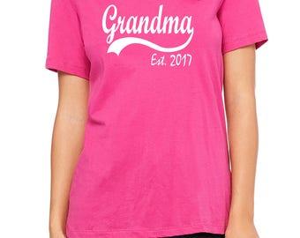 Grandma Est 2017, pregnancy announcement, reveal to grandma, baby reveal, grandma gift, grandma to be, new grandma Mothers Day gift, grandma