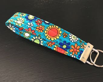 Floral Key Fob/Teacher Gift/Stocking Stuffer/any occasion that may require a gift