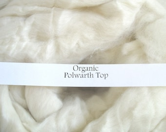 Organic Polwarth Combed Top Wool Roving Undyed Wool Spinning Fiber for Dyeing Ecru
