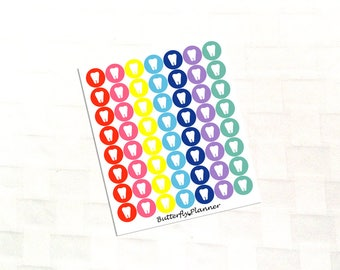 Dentist Multicolor Icon Stickers, Appointment Reminder