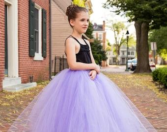 Full length lavender purple tutu skirt. Long tutu.