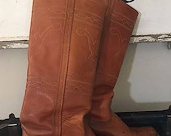 Vintage Wrangler Campus Boots Women's 7.5