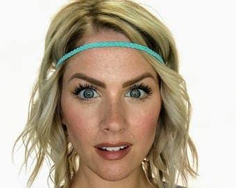 The Edie - Mint Braided Boho Headband