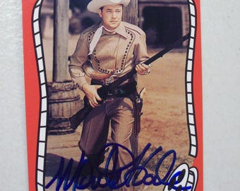Vintage Riders of the Silver Screen Singing Cowboy Monte Hale Autographed Western Movie Trading Card, No. 104