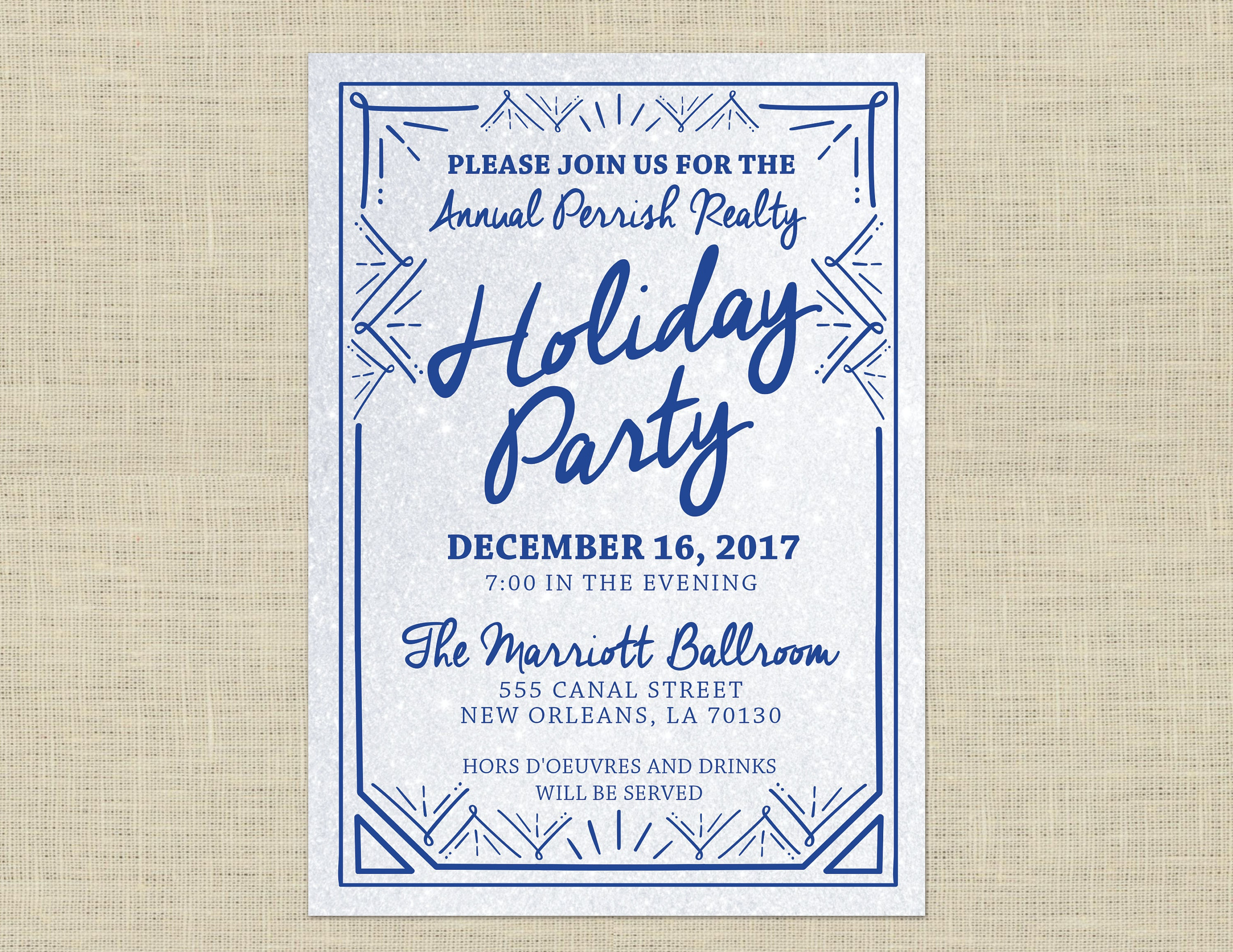 Christmas party invitation, Holiday party invitation custom ...