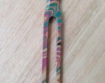 Hair fork Hair pin Hair styling Victorian Ash marbled