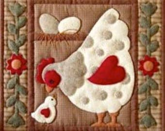 SALE PRICE: Miniature Rachel of Greenfield Quilt Kit - Spotty Hen 13in X 15in - Free UK Postage.