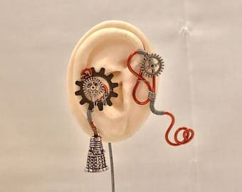 Steampunk Dalek Ear Wrap - Right Ear