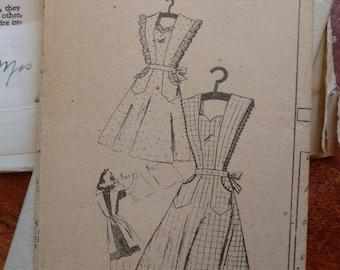 Vintage Full Apron Pattern Size Large Mail Order 1940s Excellent Unused Vintage Condition