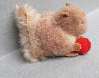 "Tiniest 2"" Vintage STEIFF Wool Squirrel"